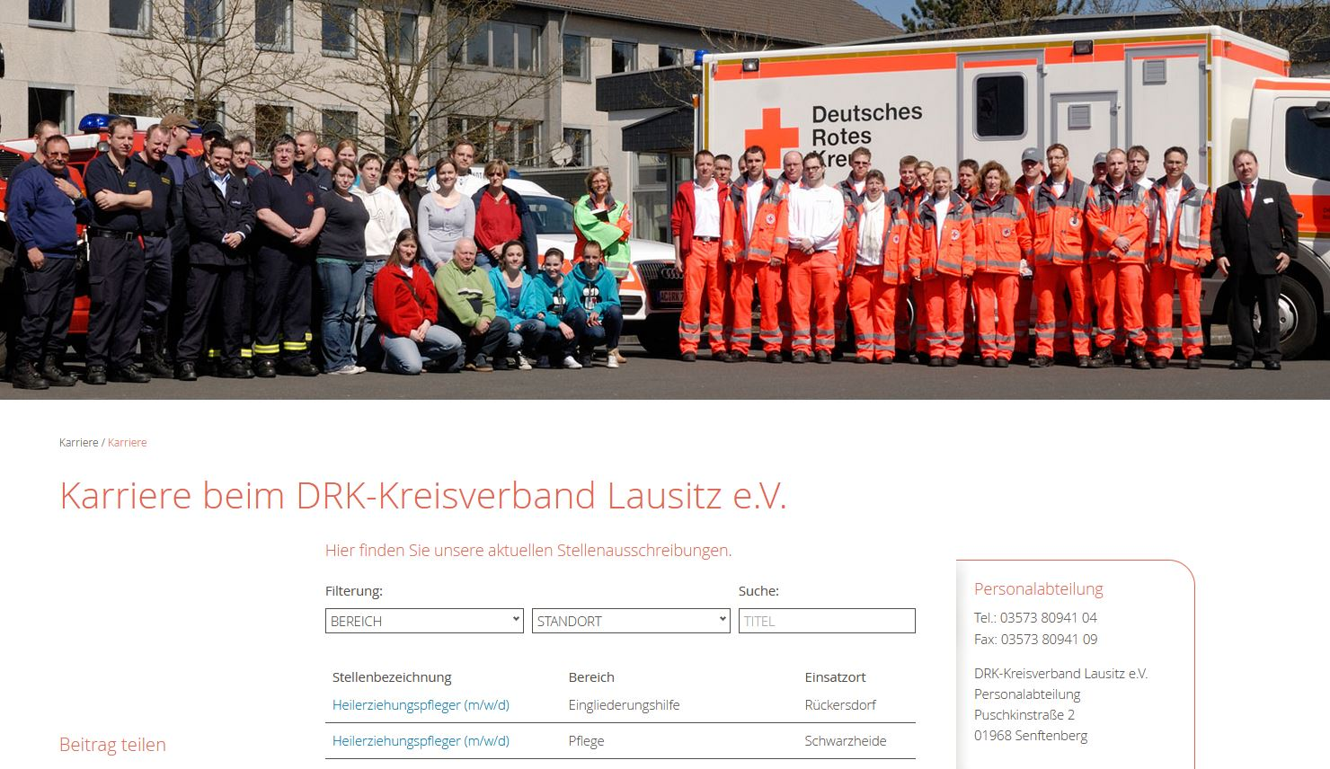 DRK Lausitz Jobbörse digital