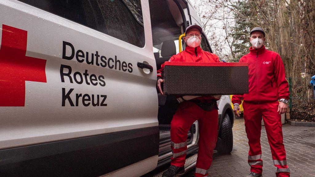 Fahrdienst des DRK bei Essenfahrt in Potsdam dabei