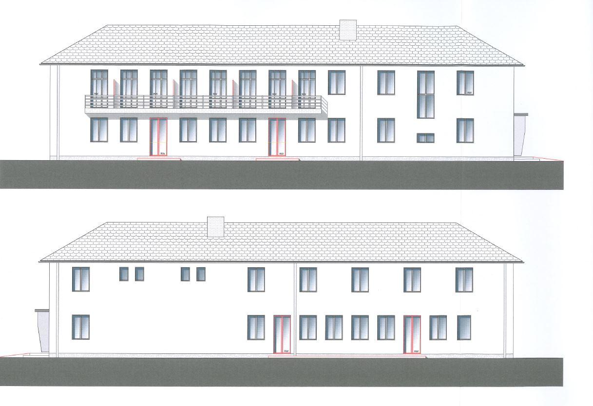 Fassadenzeichnung Wiesenburg