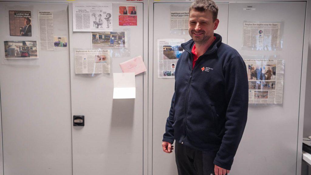 Hendrik Janz im Impfzentrum Kyritz