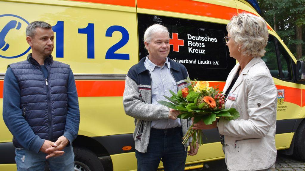 Uwe Steiger Abschied Rettungswache Lauchhammer