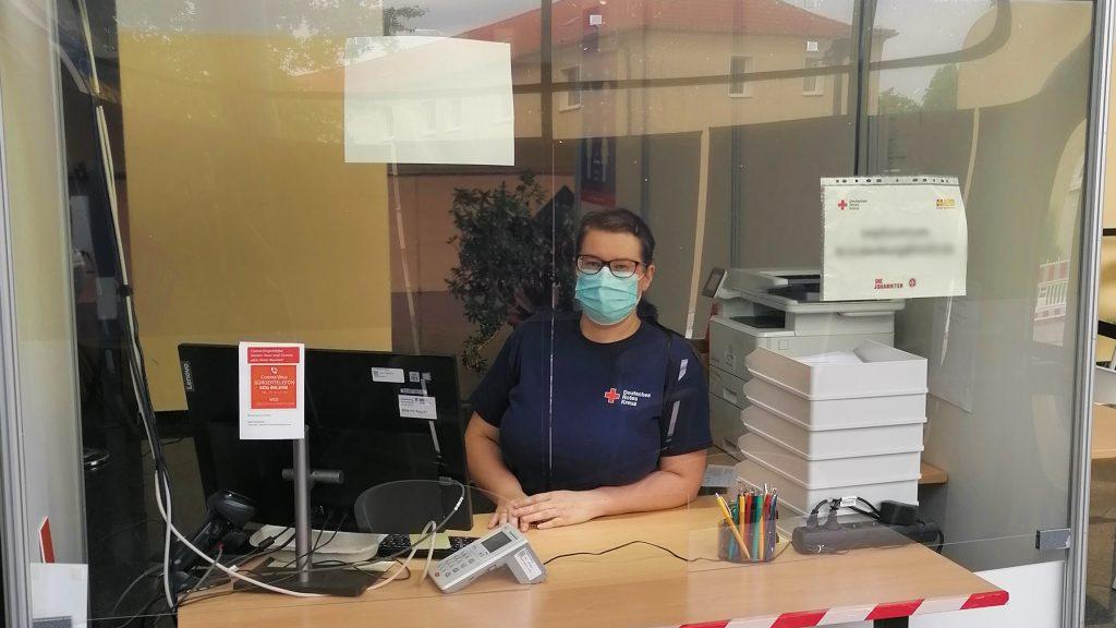 Carolin Tessmer Impfzentrum Brandenburg